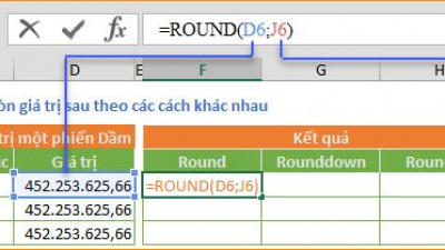 ROUND – ROUNDDOWN - ROUNDUP - Làm tròn số trong Excel