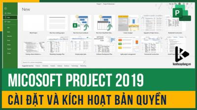 Download và cài đặt Microsoft Project 2019 thành công 100%