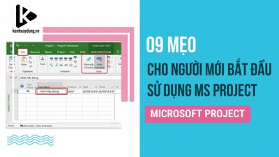 9 mẹo hữu ích cho người mới bắt đầu sử dụng Microsoft Project