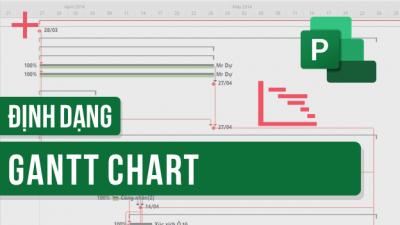 Hướng dẫn định dạng biểu đồ Gantt Chart trên MS Project