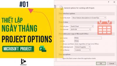 Project Options #01 - Hướng dẫn thiết lập định dạng ngày tháng trong bảng tiến độ trên MS Project