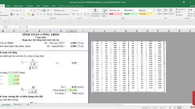 [Excel] Bảng tính cống tròn D1000