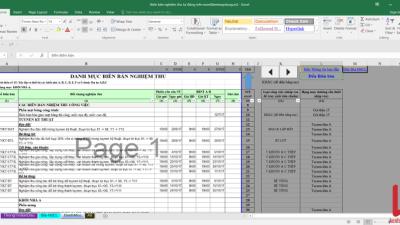 [Excel] Biên bản nghiệm thu tự động
