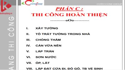 [Tài liệu] Cẩm Nang Thi Công Coteccons ( Phần C)