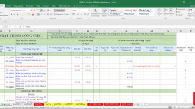 [Excel] Hồ sơ quản lý chất lượng ( File Mẫu Tự Động )