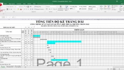 [Excel] Tiến độ dự án
