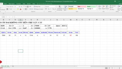 [Excel] Tính toán cốt đai